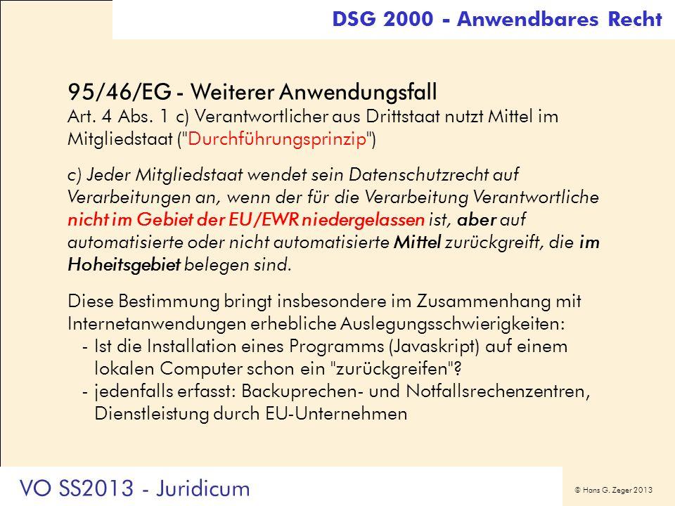 95/46/EG - Weiterer Anwendungsfall