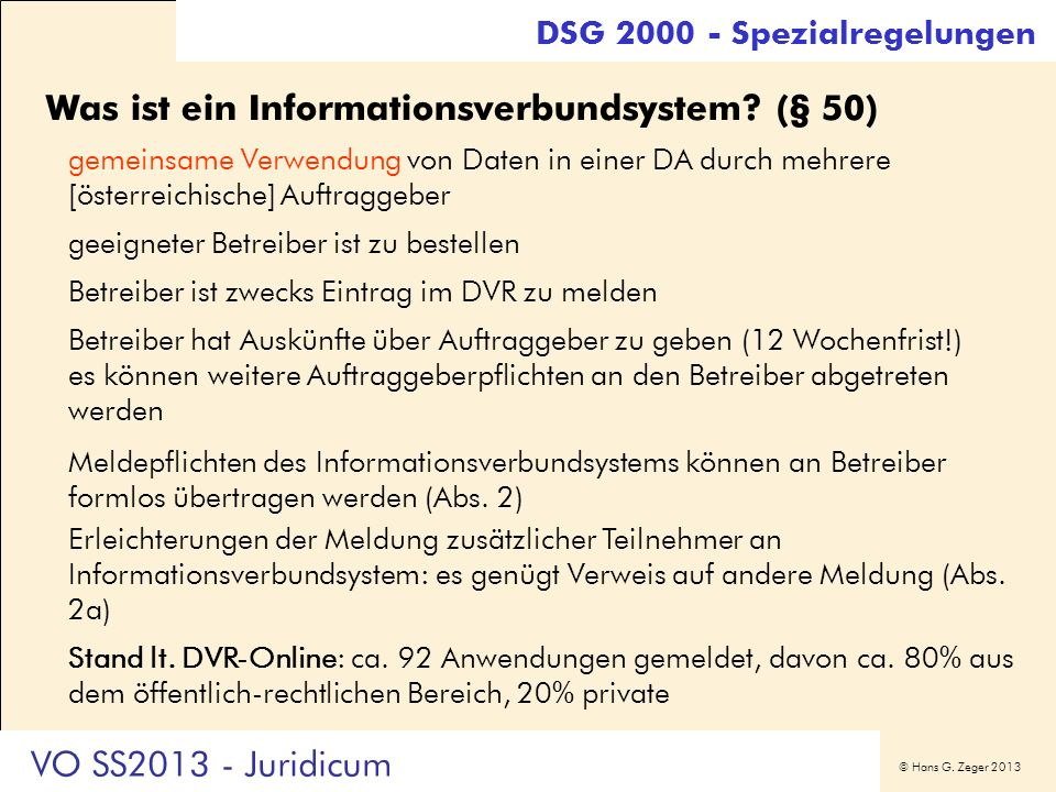 Was ist ein Informationsverbundsystem (§ 50)