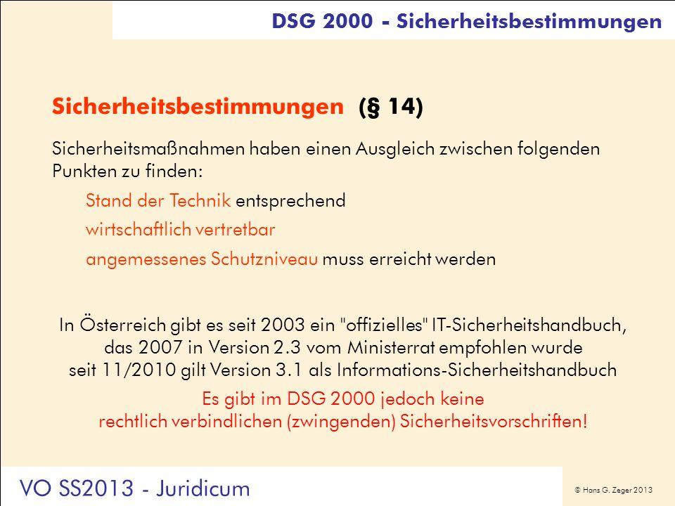 Sicherheitsbestimmungen (§ 14)