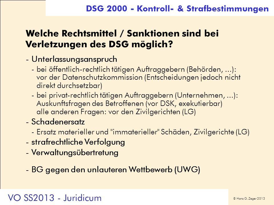 DSG 2000 - Kontroll- & Strafbestimmungen