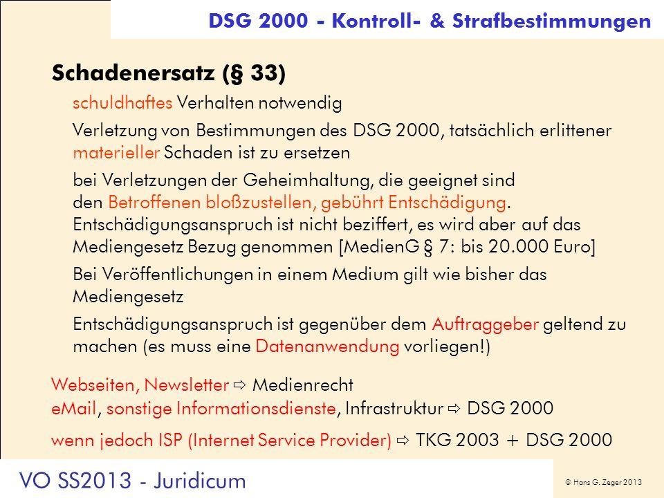 Schadenersatz (§ 33) VO SS2013 - Juridicum