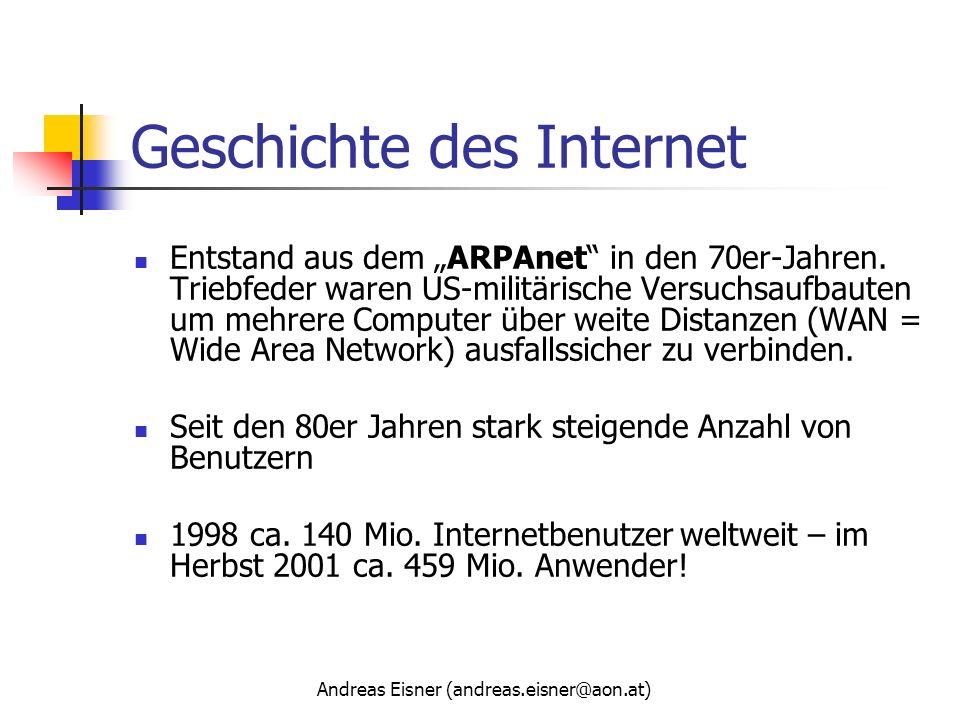 Geschichte des Internet