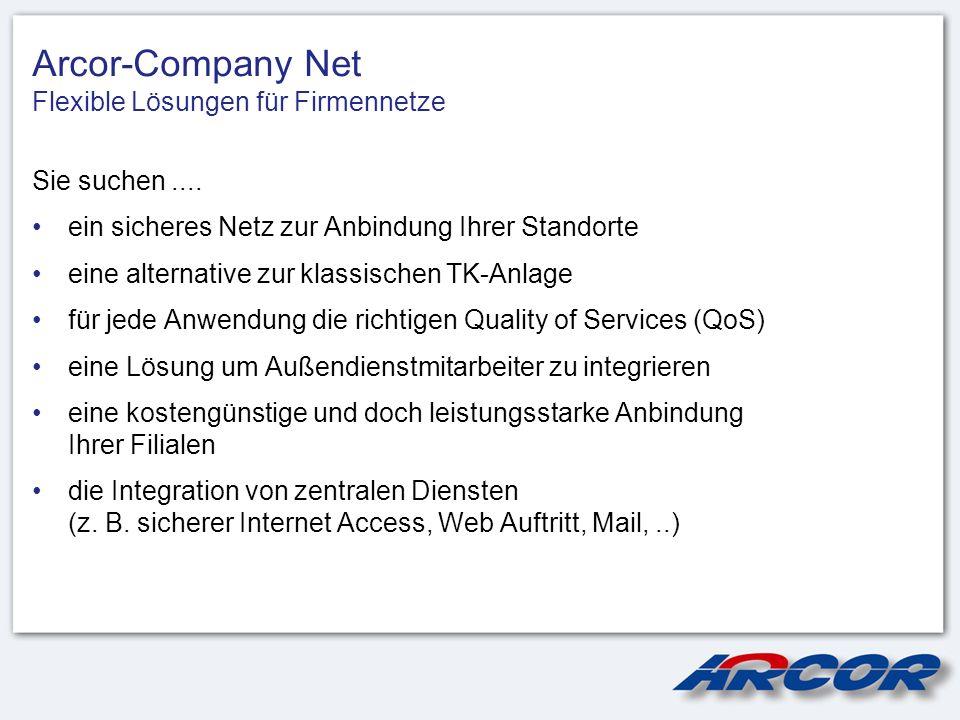 Arcor-Company Net Flexible Lösungen für Firmennetze