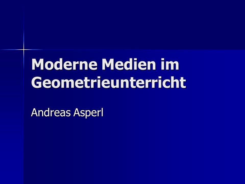 Moderne Medien im Geometrieunterricht