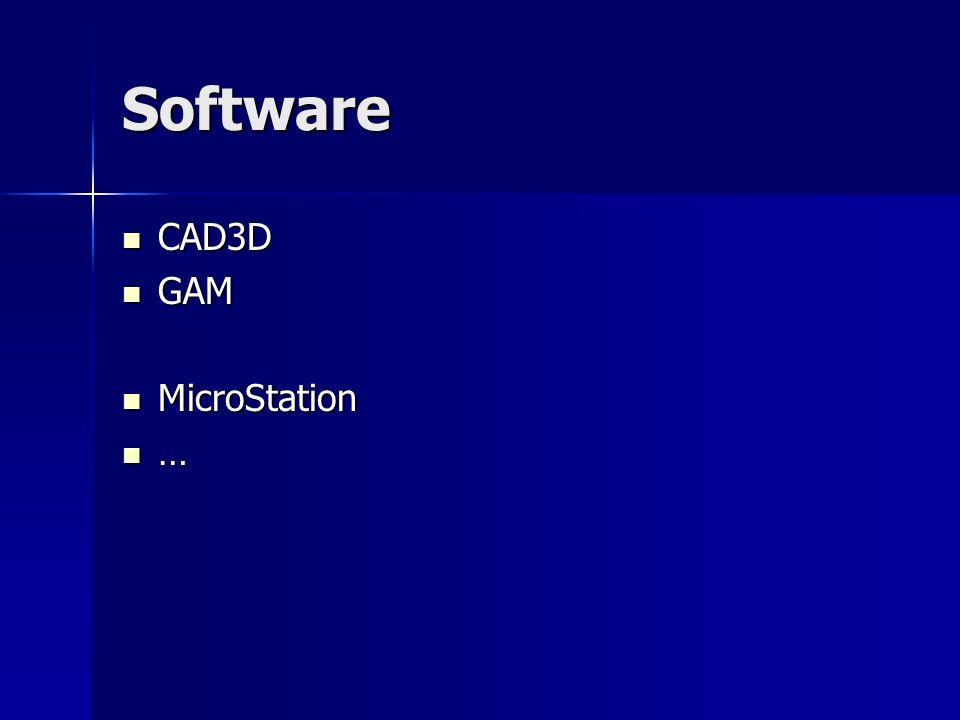 Software CAD3D GAM MicroStation … Rechts jeweils Bilder