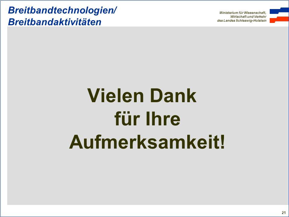 Breitbandtechnologien/ Breitbandaktivitäten