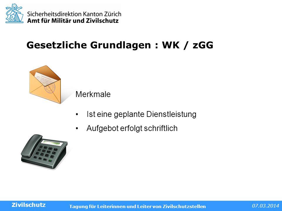 Gesetzliche Grundlagen : WK / zGG