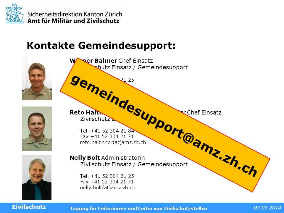 Kontakte Gemeindesupport: