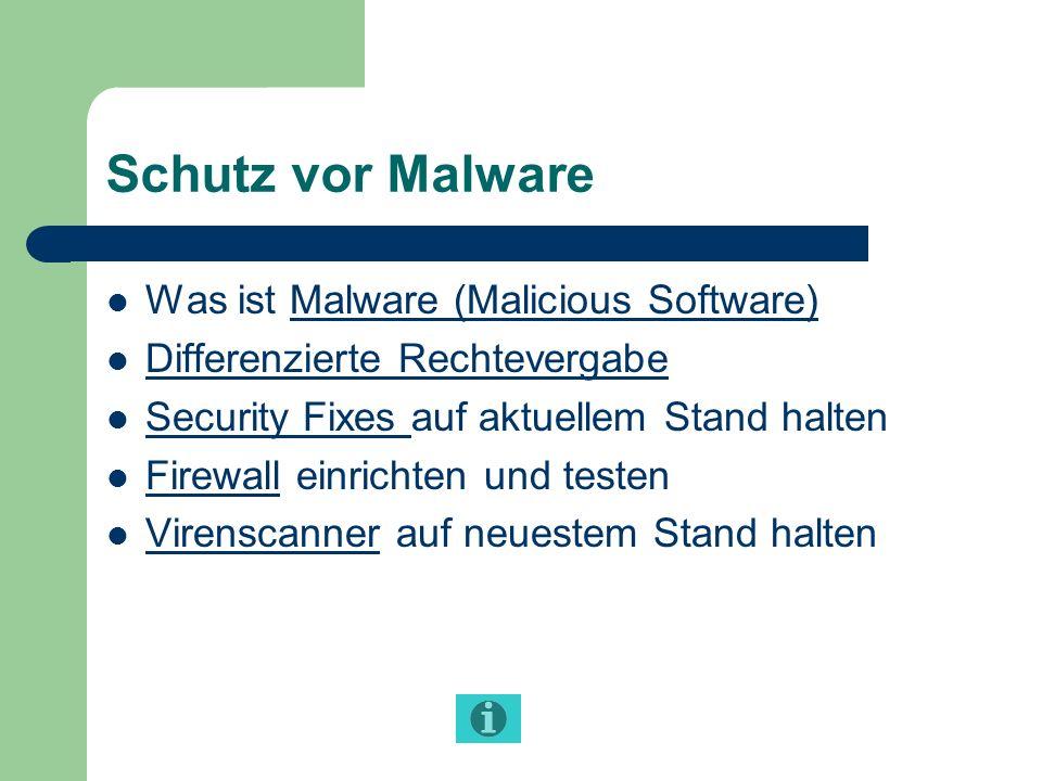 Schutz vor Malware Was ist Malware (Malicious Software)