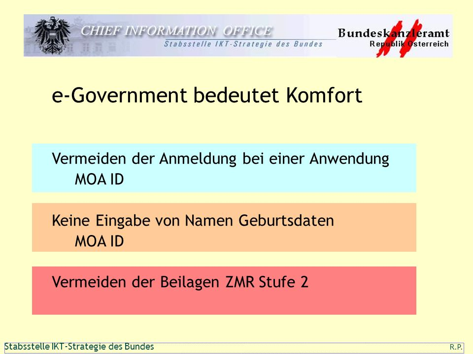 e-Government bedeutet Komfort