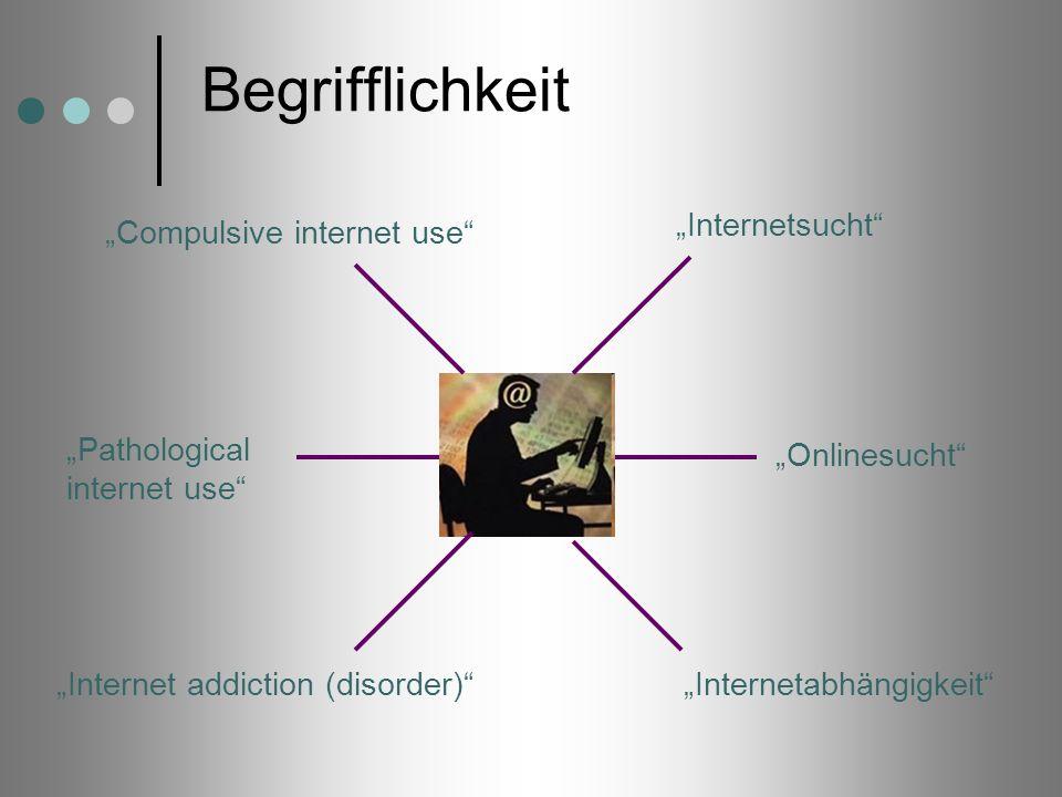 """Begrifflichkeit """"Internetsucht """"Compulsive internet use"""