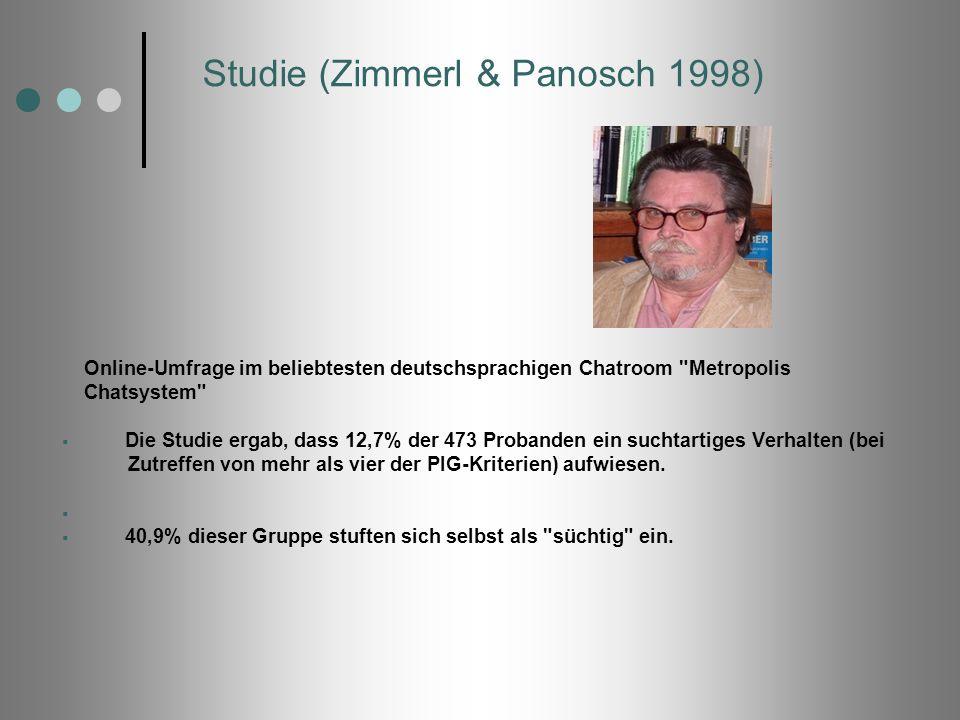 Studie (Zimmerl & Panosch 1998)