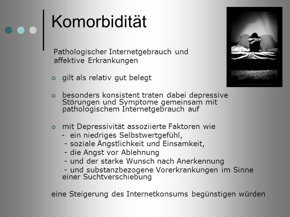 Komorbidität Pathologischer Internetgebrauch und