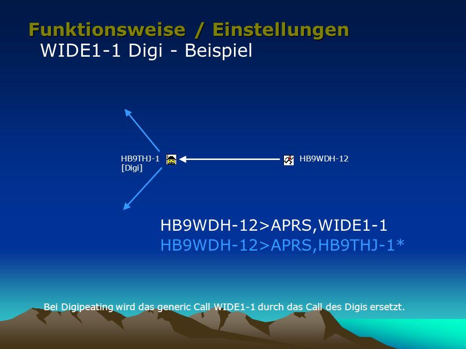 Funktionsweise / Einstellungen WIDE1-1 Digi - Beispiel