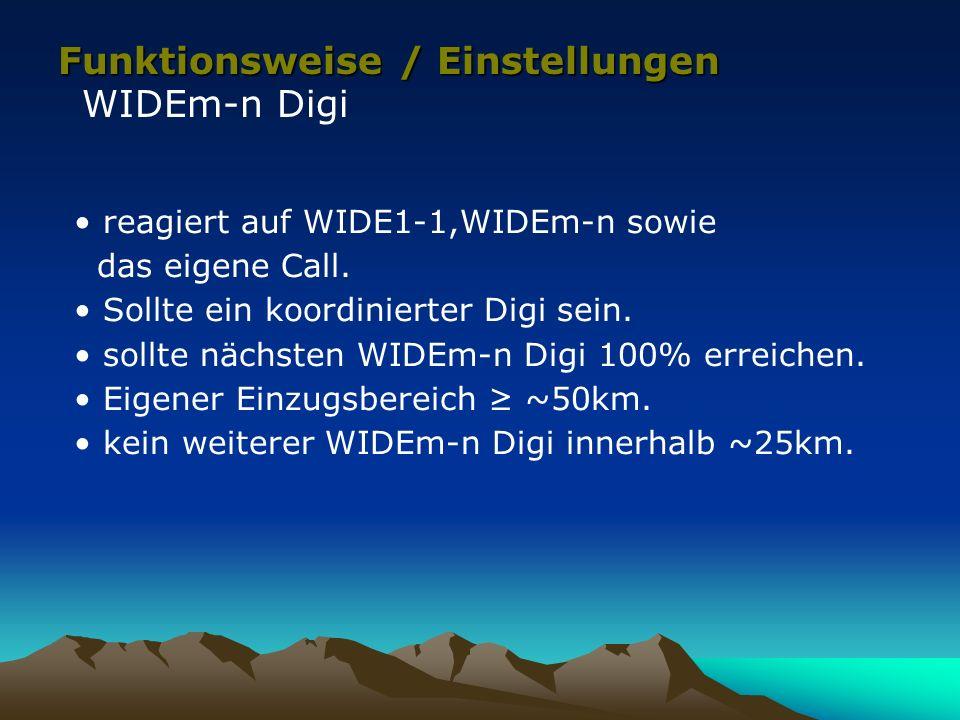 Funktionsweise / Einstellungen WIDEm-n Digi