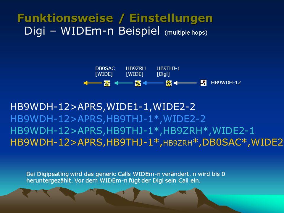 Funktionsweise / Einstellungen Digi – WIDEm-n Beispiel (multiple hops)