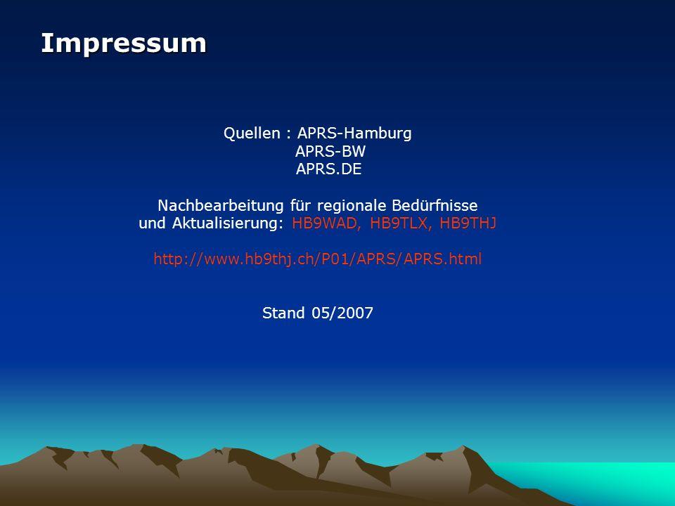 Quellen : APRS-Hamburg