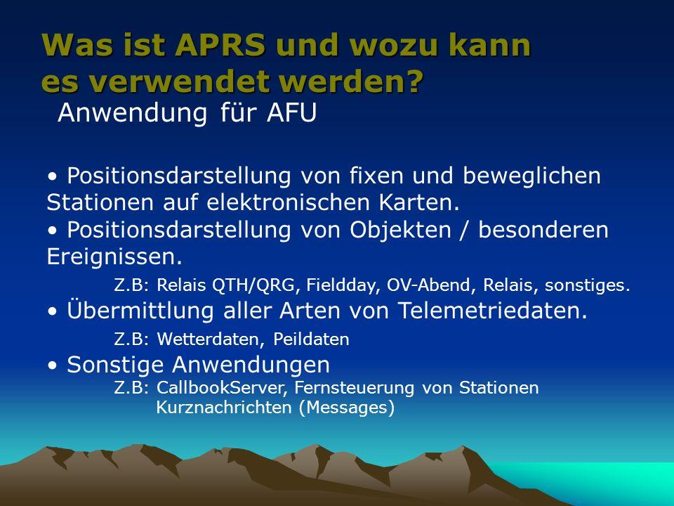 Was ist APRS und wozu kann es verwendet werden
