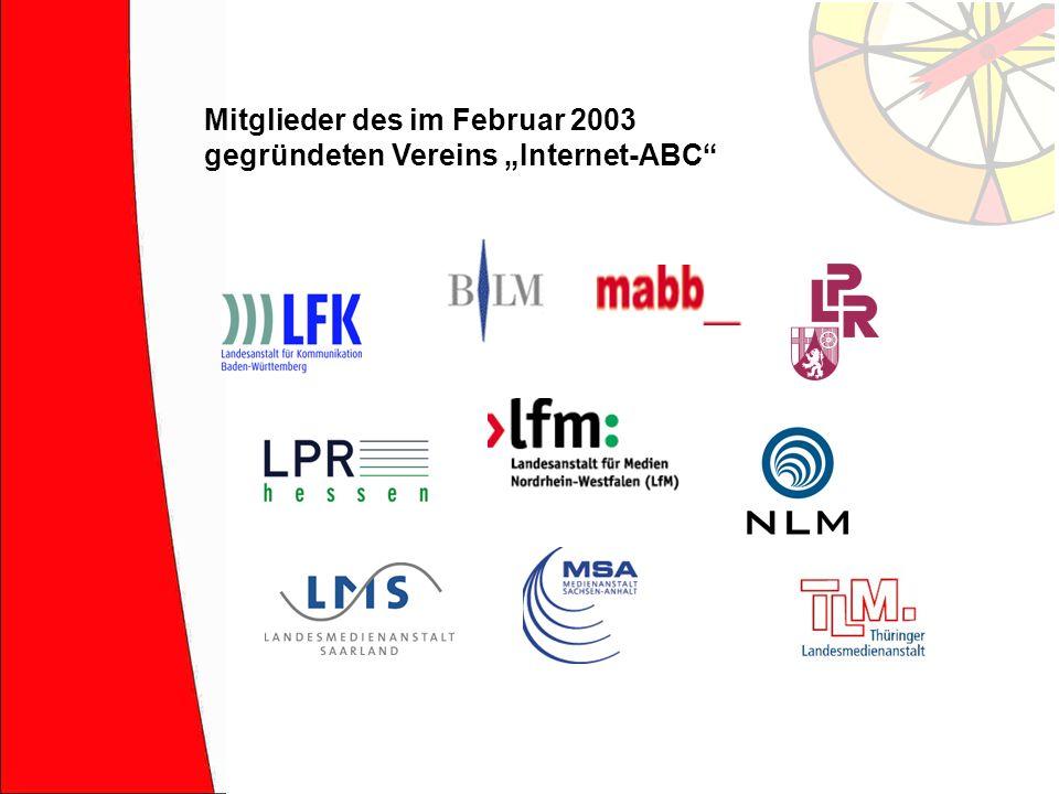"""Mitglieder des im Februar 2003 gegründeten Vereins """"Internet-ABC"""