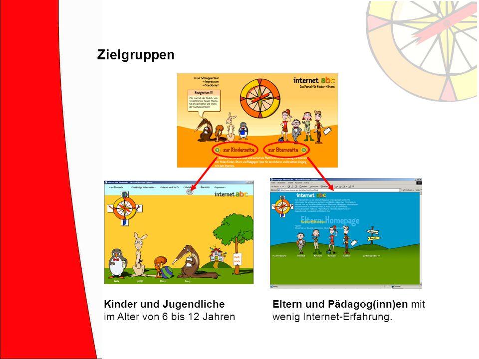 Zielgruppen Kinder und Jugendliche im Alter von 6 bis 12 Jahren