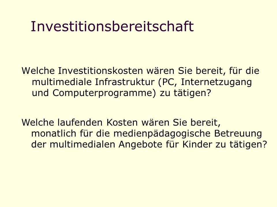 Investitionsbereitschaft