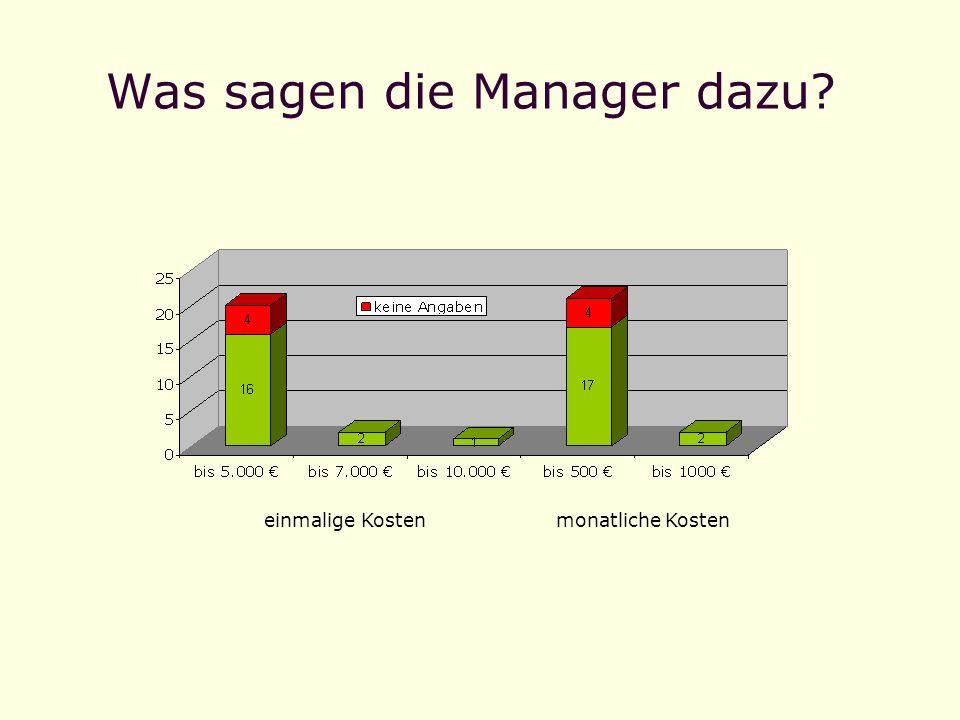Was sagen die Manager dazu
