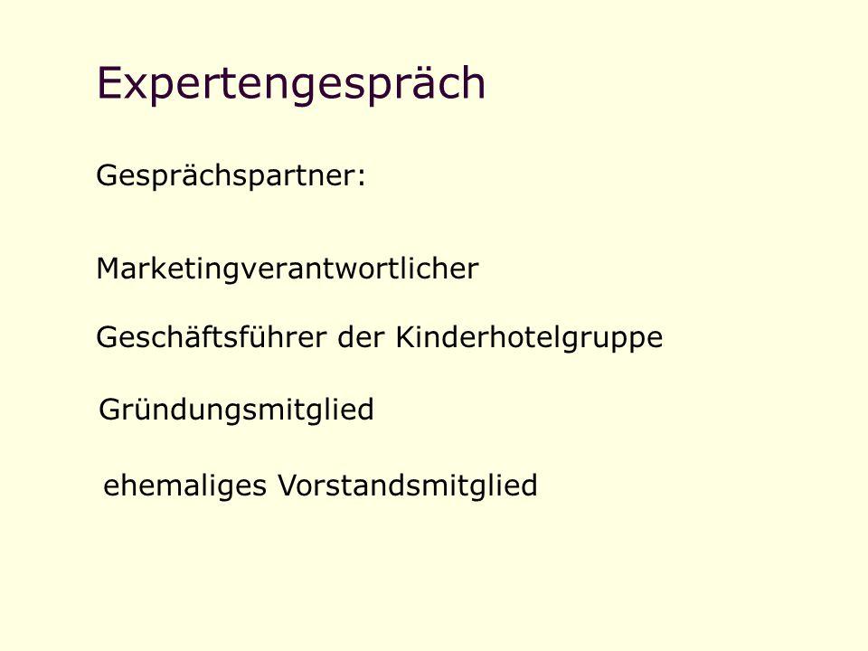 Expertengespräch Gesprächspartner: Marketingverantwortlicher
