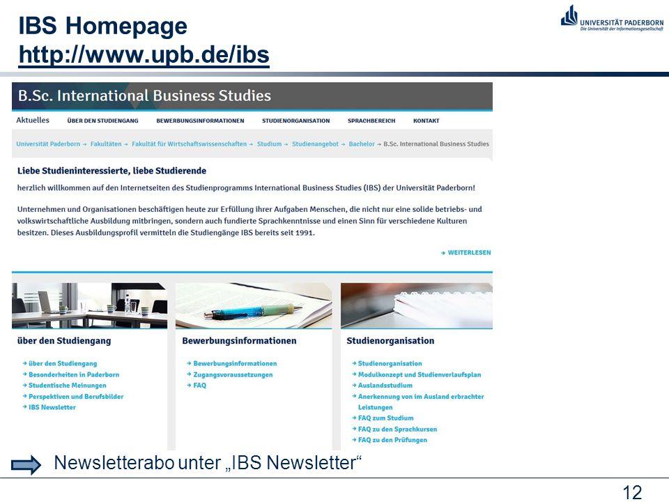 IBS Homepage http://www.upb.de/ibs