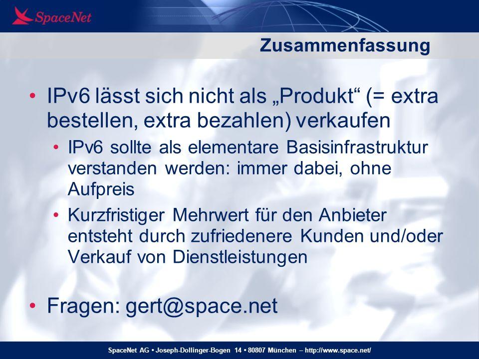 Fragen: gert@space.net