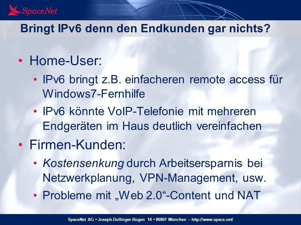 Bringt IPv6 denn den Endkunden gar nichts