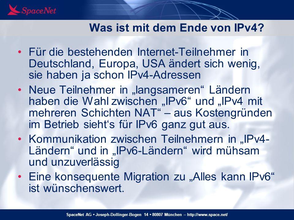 Was ist mit dem Ende von IPv4