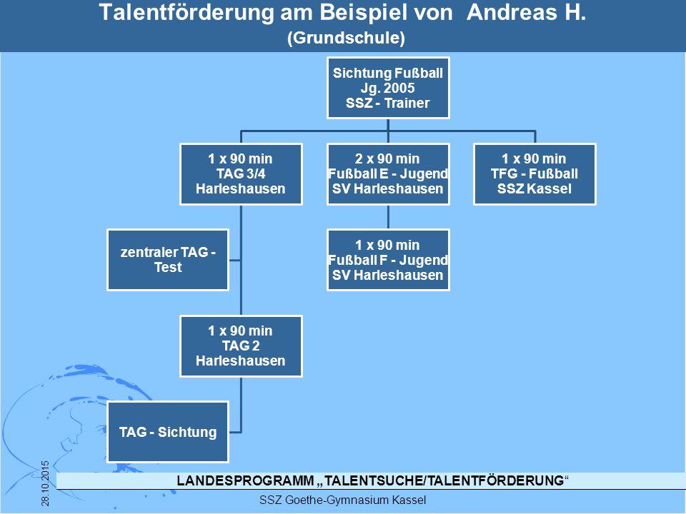 Talentförderung am Beispiel von Andreas H. (Grundschule)