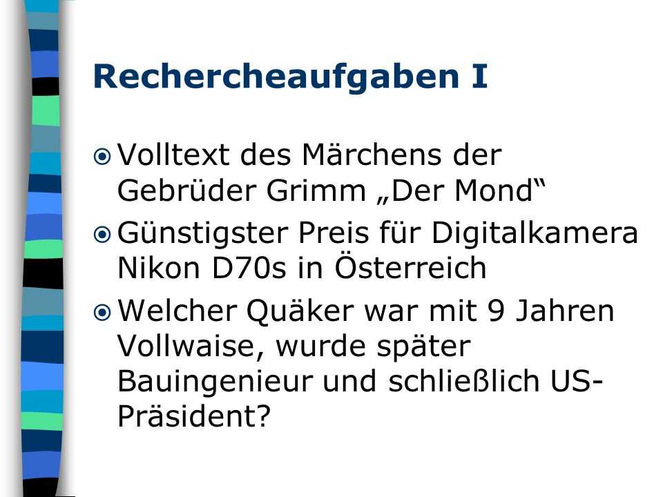 """Rechercheaufgaben I Volltext des Märchens der Gebrüder Grimm """"Der Mond Günstigster Preis für Digitalkamera Nikon D70s in Österreich."""