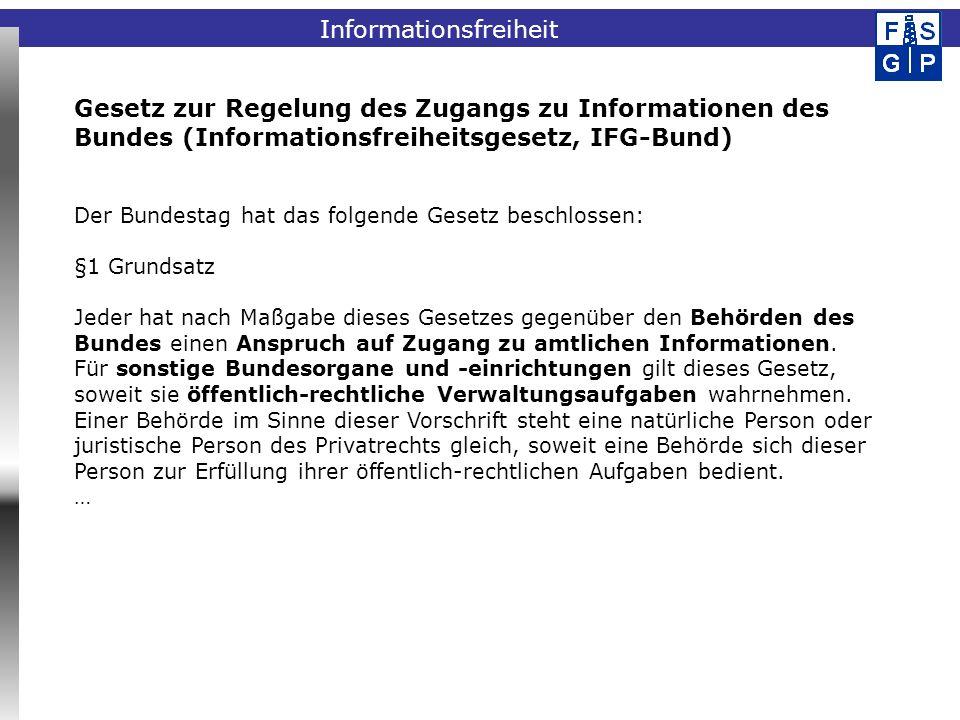 Informationsfreiheit