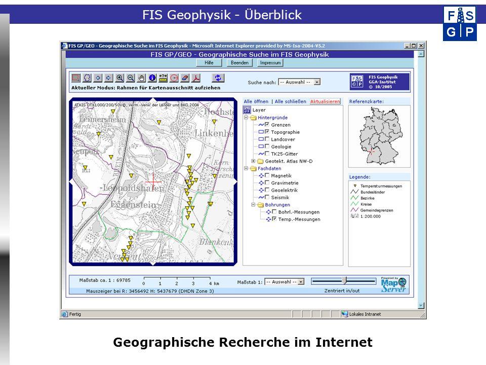 Geographische Recherche im Internet