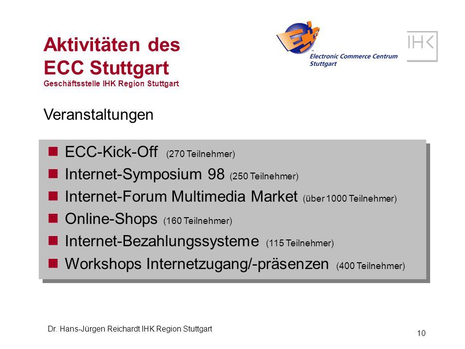 Aktivitäten des ECC Stuttgart Geschäftsstelle IHK Region Stuttgart