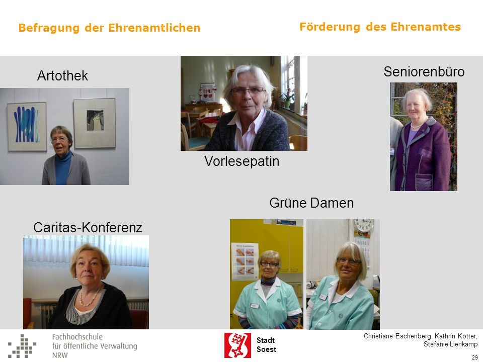 Seniorenbüro Artothek Vorlesepatin Grüne Damen Caritas-Konferenz