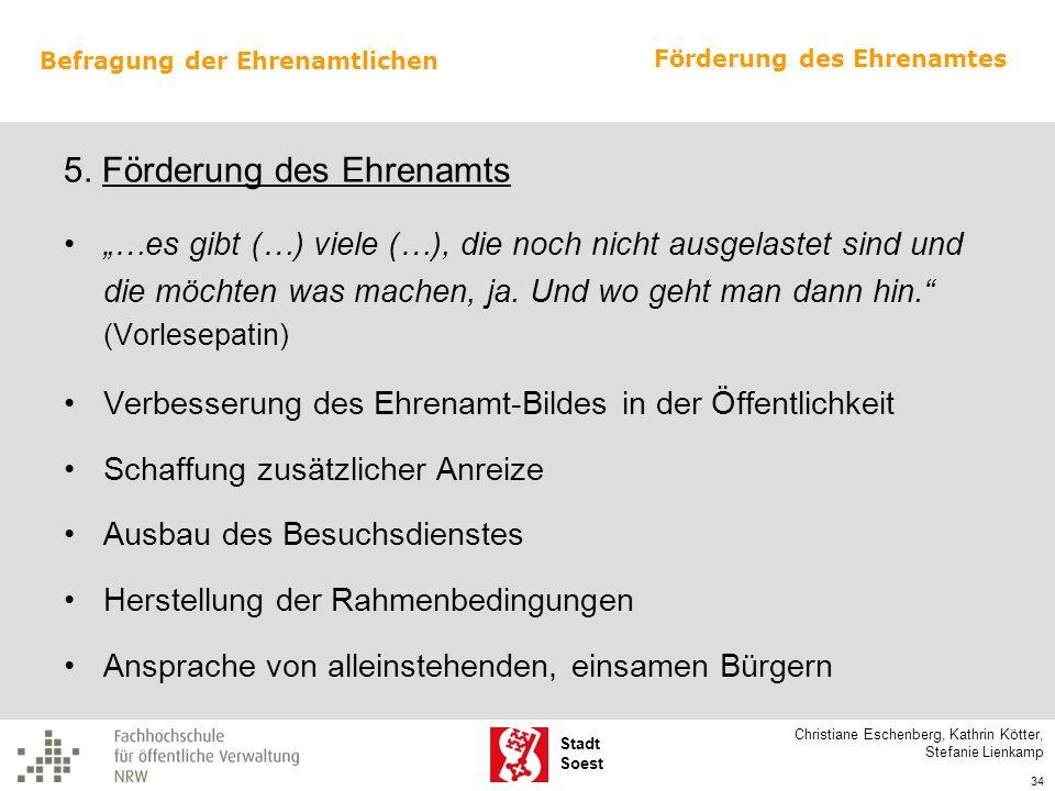 5. Förderung des Ehrenamts