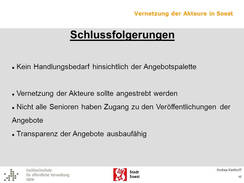 Vernetzung der Akteure in Soest