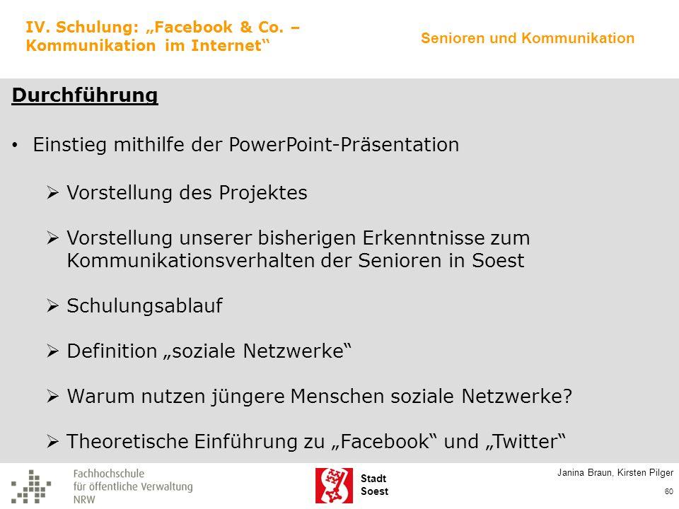 Einstieg mithilfe der PowerPoint-Präsentation