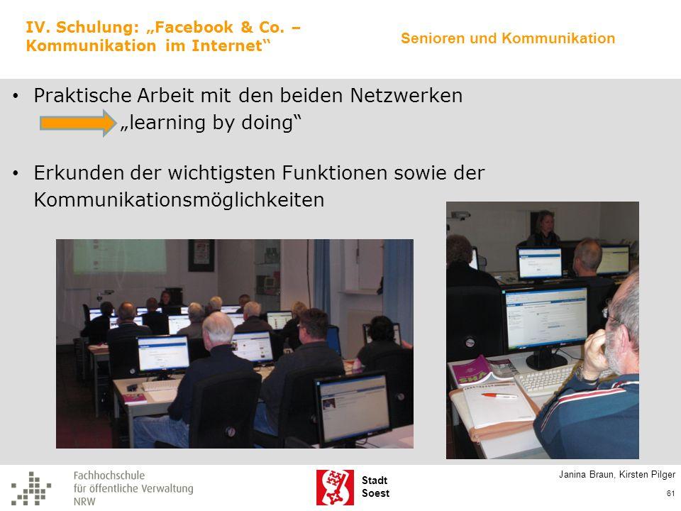 """Praktische Arbeit mit den beiden Netzwerken """"learning by doing"""