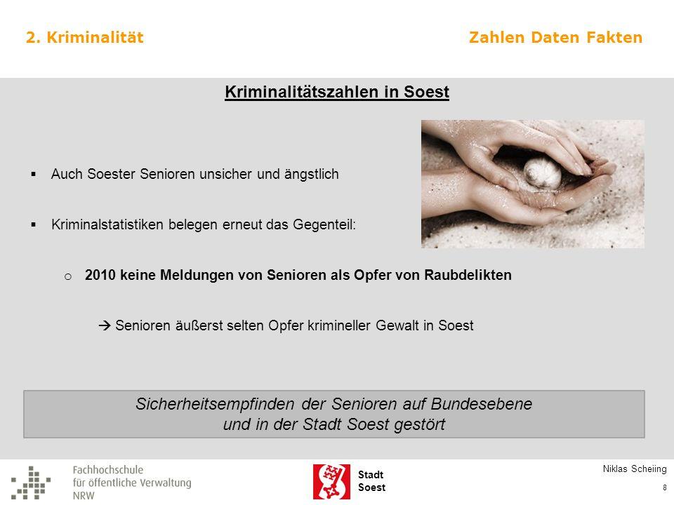 Kriminalitätszahlen in Soest