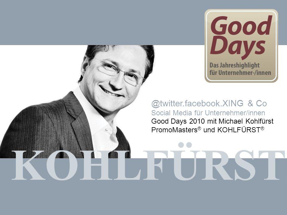 KOHLFÜRST @twitter.facebook.XING & Co
