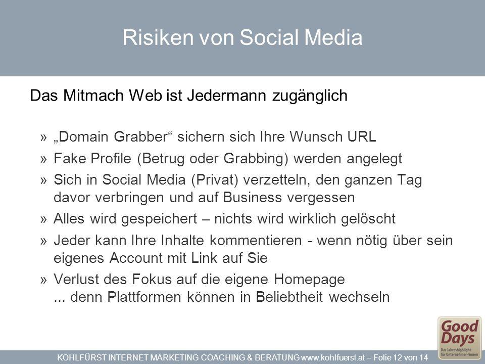 Risiken von Social Media