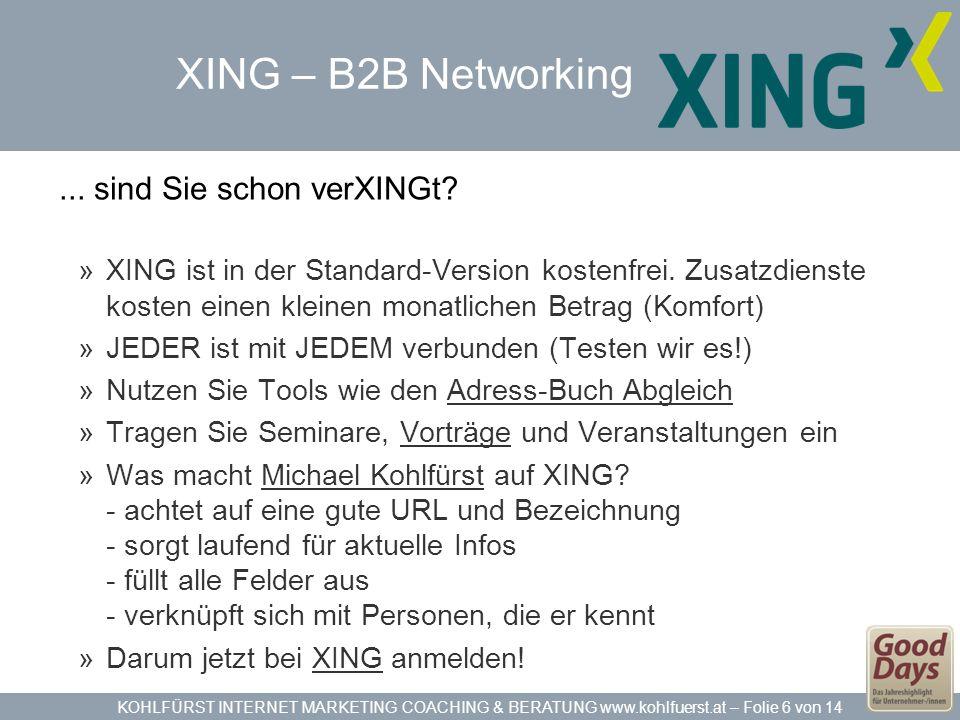 XING – B2B Networking ... sind Sie schon verXINGt