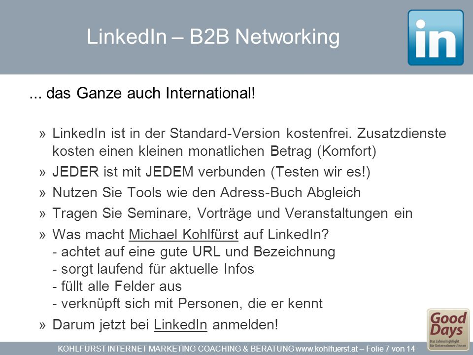 LinkedIn – B2B Networking