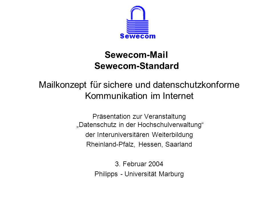 Sewecom-Mail Sewecom-Standard