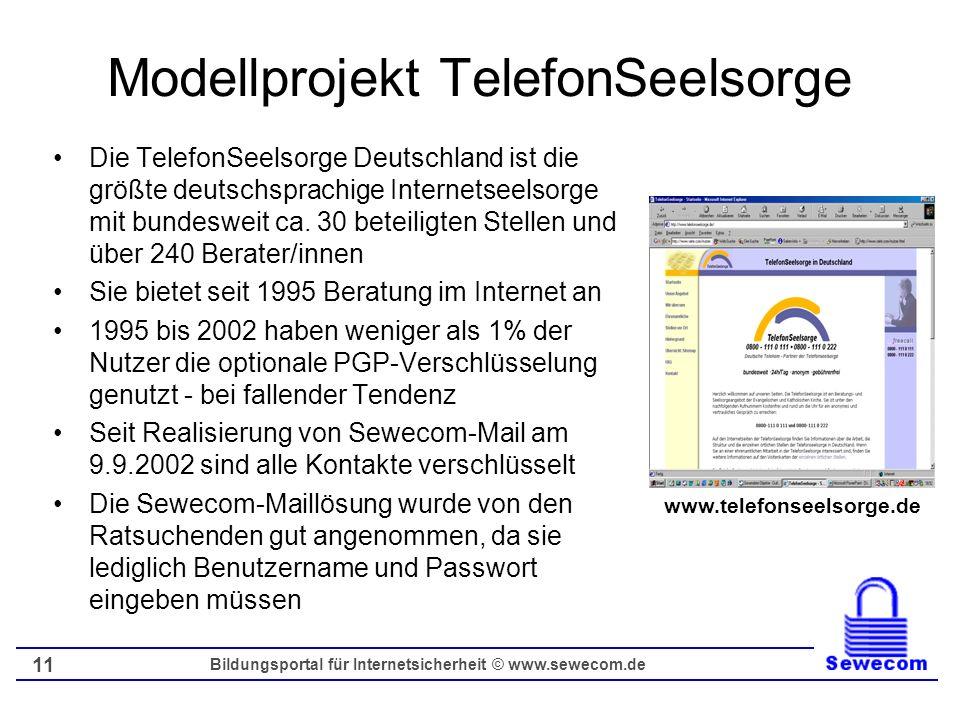 Modellprojekt TelefonSeelsorge