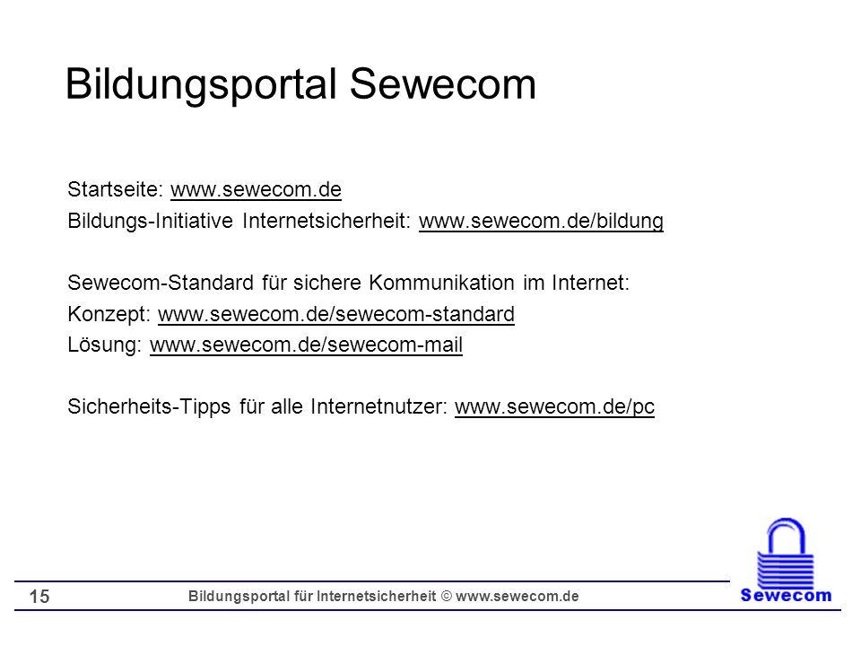 Bildungsportal Sewecom