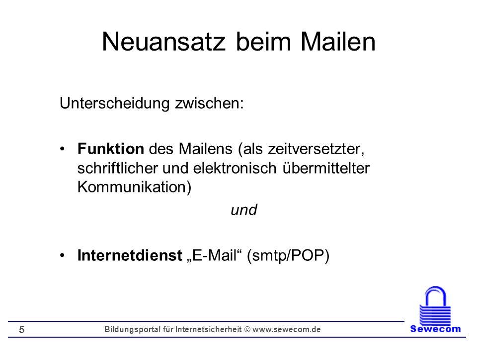 Bildungsportal für Internetsicherheit © www.sewecom.de